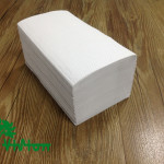 "Single fold towel paper,  recycled white,38gsm,  1Ply,8.86""×8.86""200Pcs"