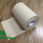 """Paper towel roll,  recycled brown,38gsm,  1Ply,7.76""""×350'"""