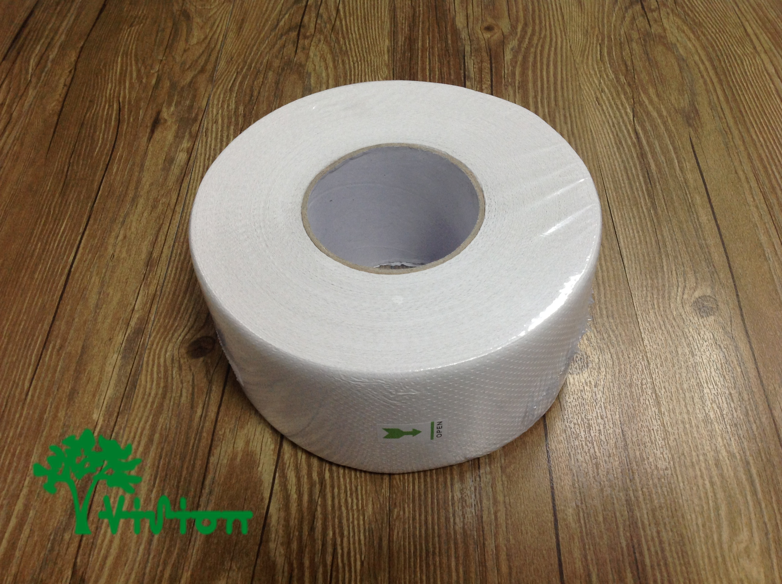"Jumbo toilet paper,  recycled white,16gsm,  2Ply,3.93""×540g/roll"