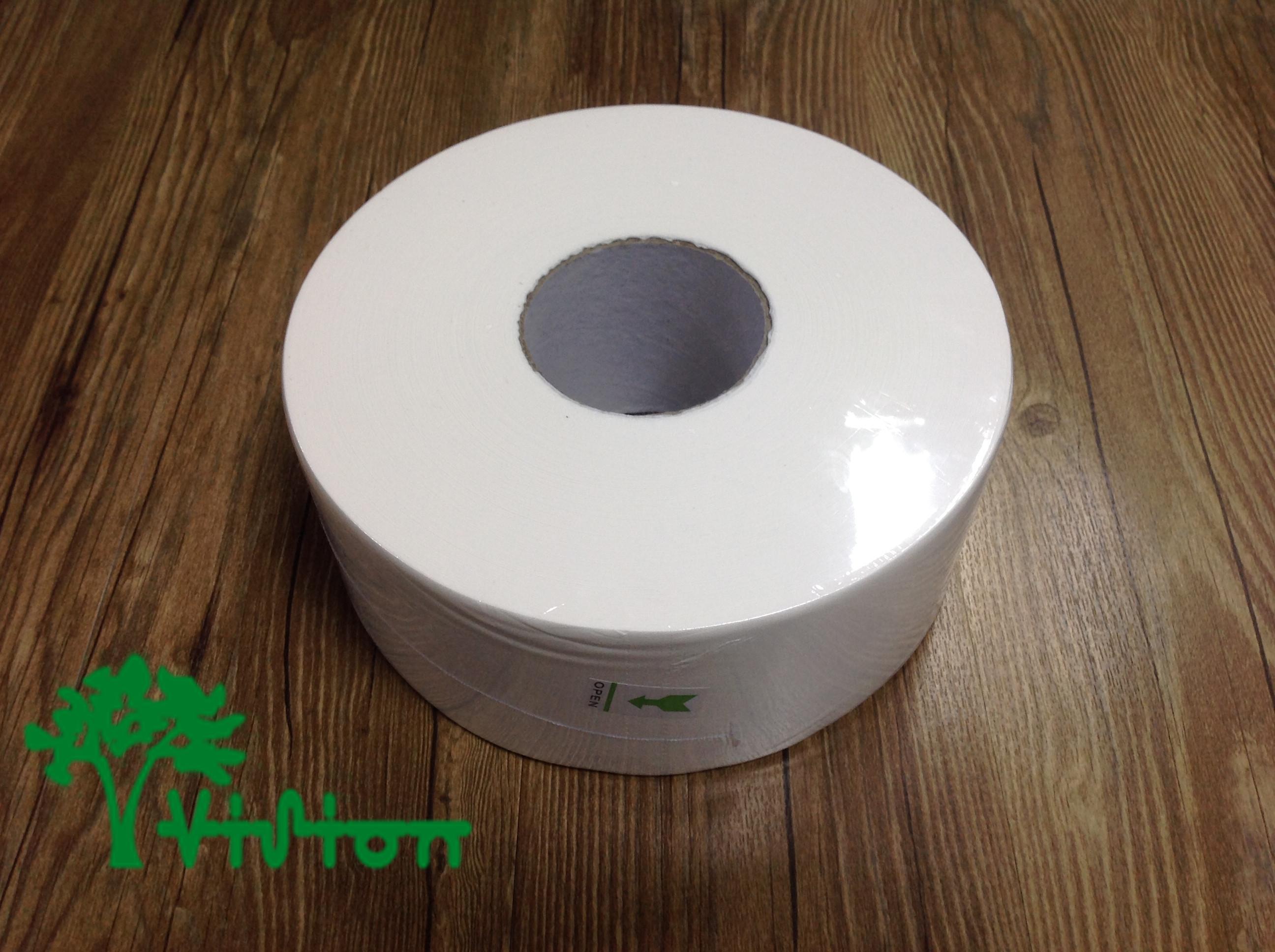 """Jumbo toilet paper,  virgin white,16gsm,  2Ply,3.74""""×785g/roll"""
