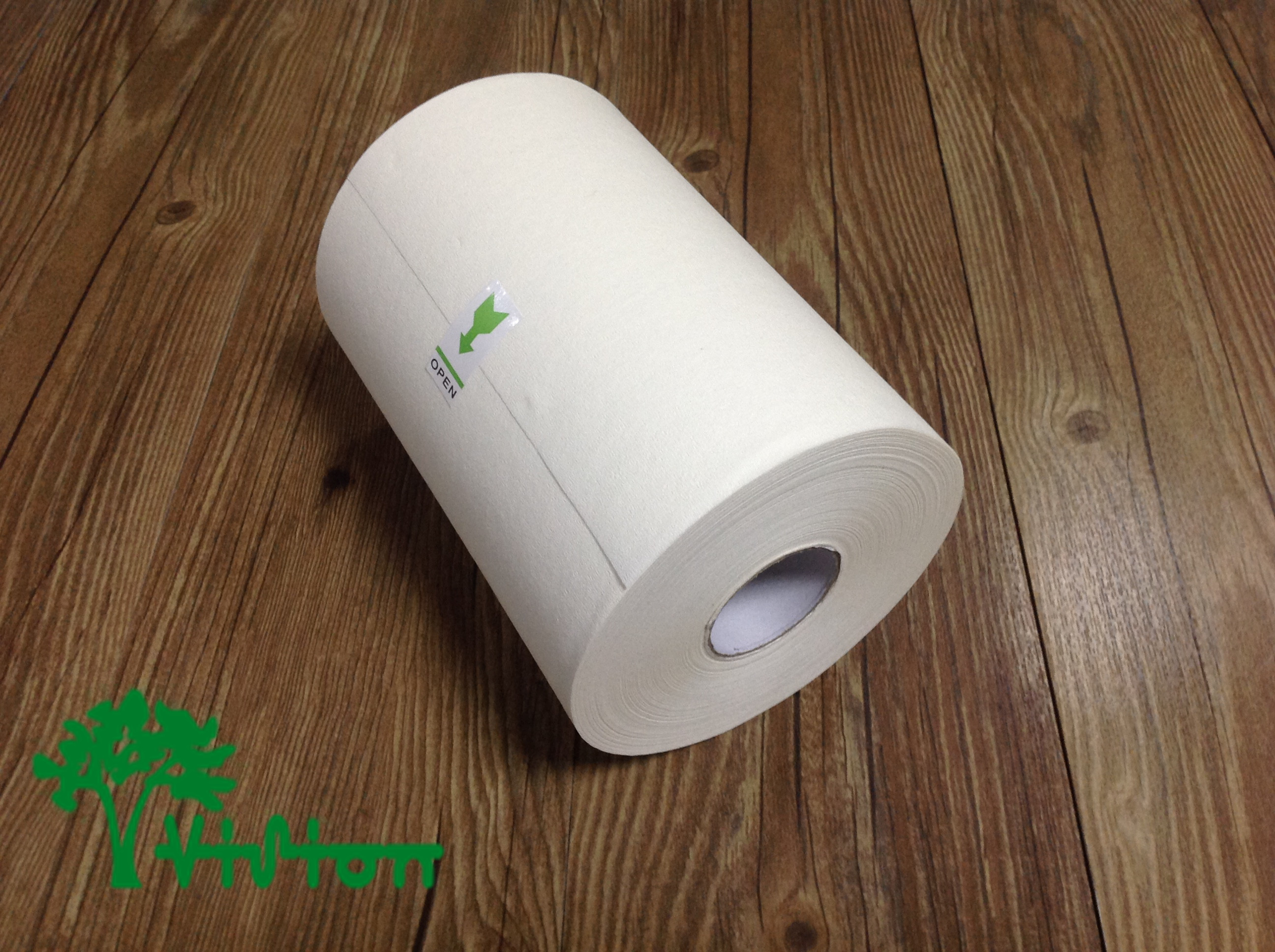 "Paper towel roll,  Mechanicalwood-pulp,  38gsm,1Ply,7.08""×262'"