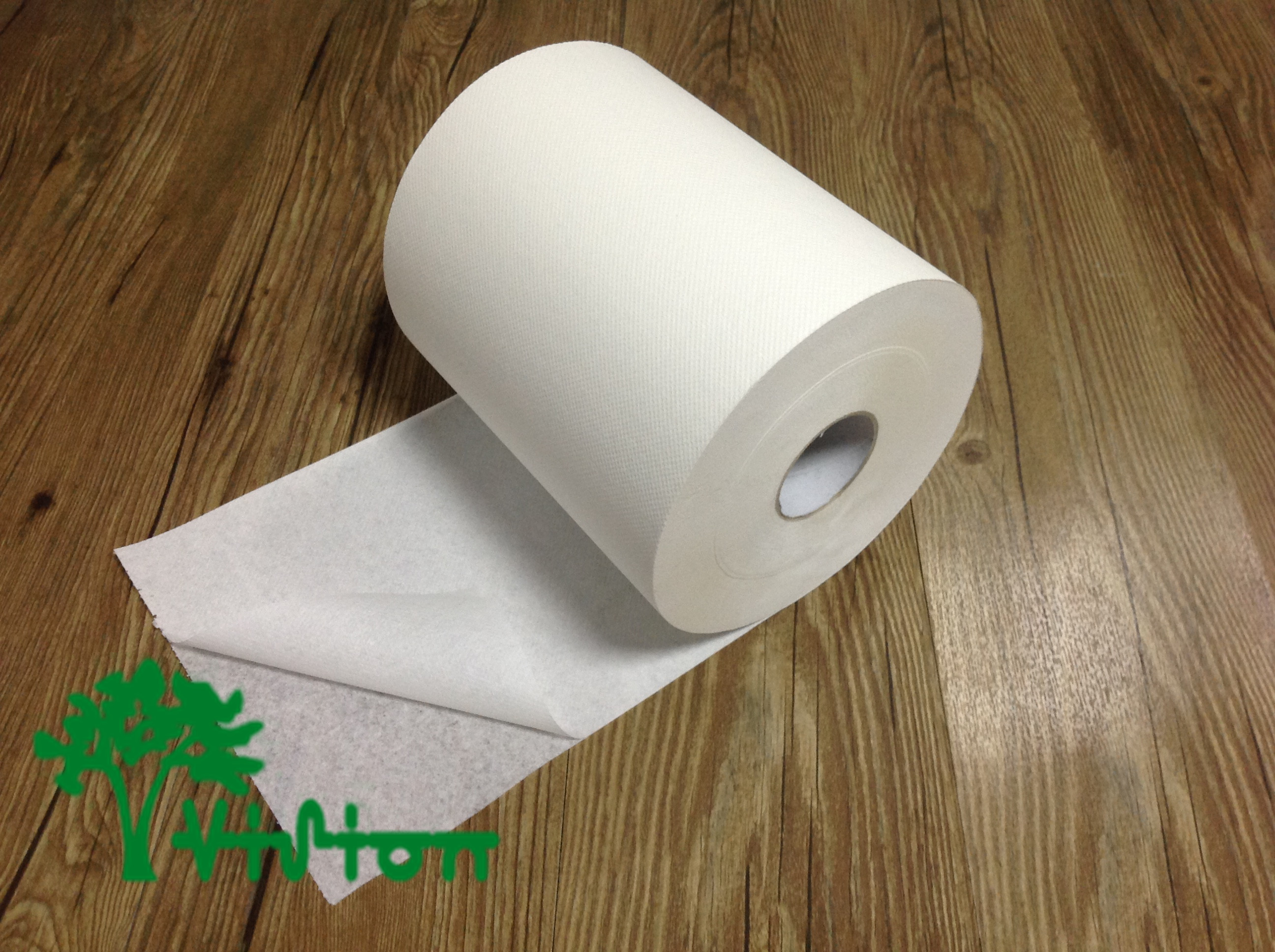 "Air paper towel roll,  virgin white,19gsm,  2Ply,7.76""×600'"