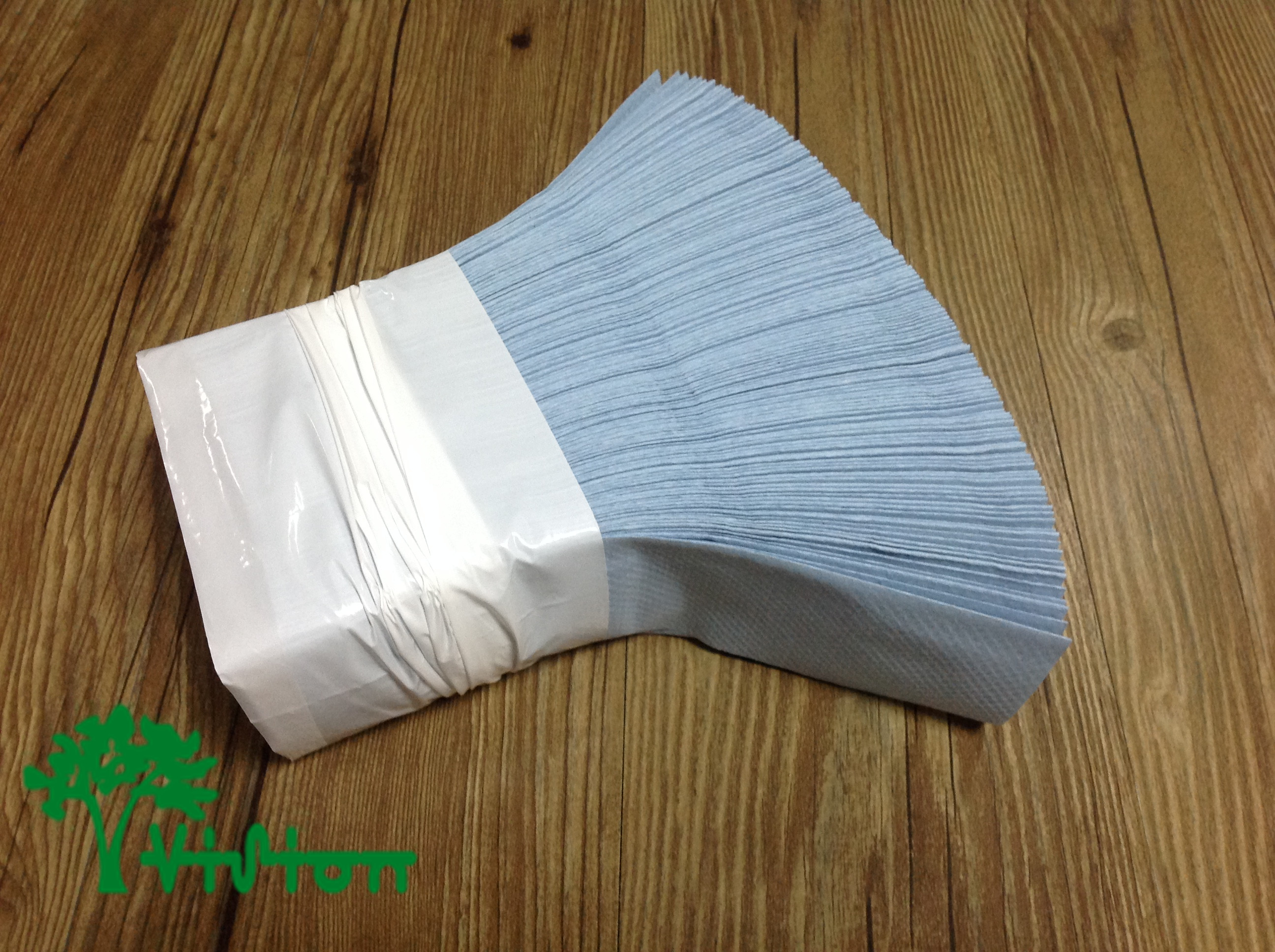 "Multifold paper towels,  recycled blue,38gsm,  1Ply,9.05""×9.05""250Pcs"