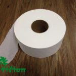 "Jumbo toilet paper,  virgin white,19gsm,  1Ply,3.54""×1000'/roll"