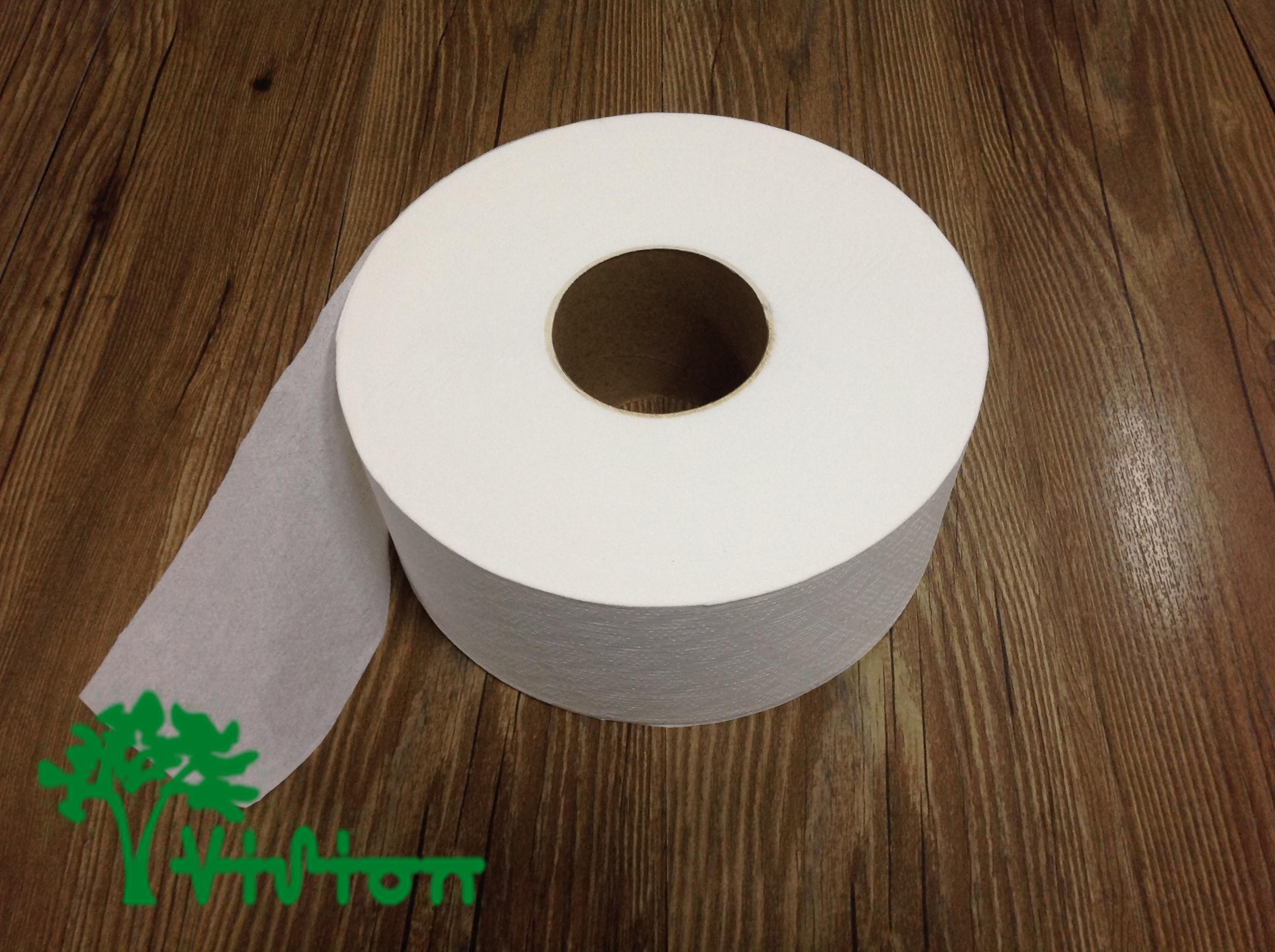 """Jumbo toilet paper,  virgin white,19gsm,  1Ply,3.54""""×1000'/roll"""