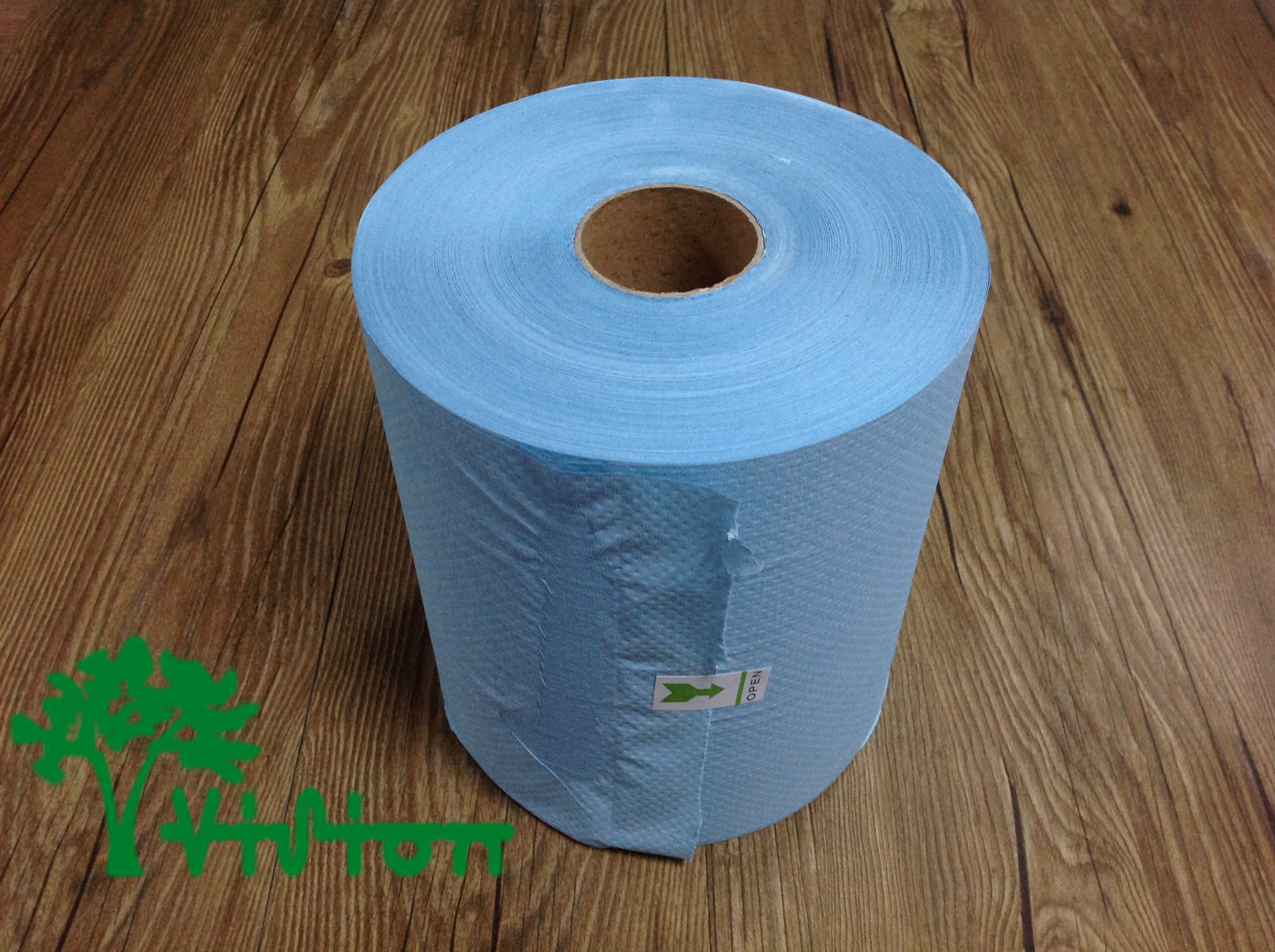 Recycled Blue Paper Towel Roll Wholesale Tissue Paper
