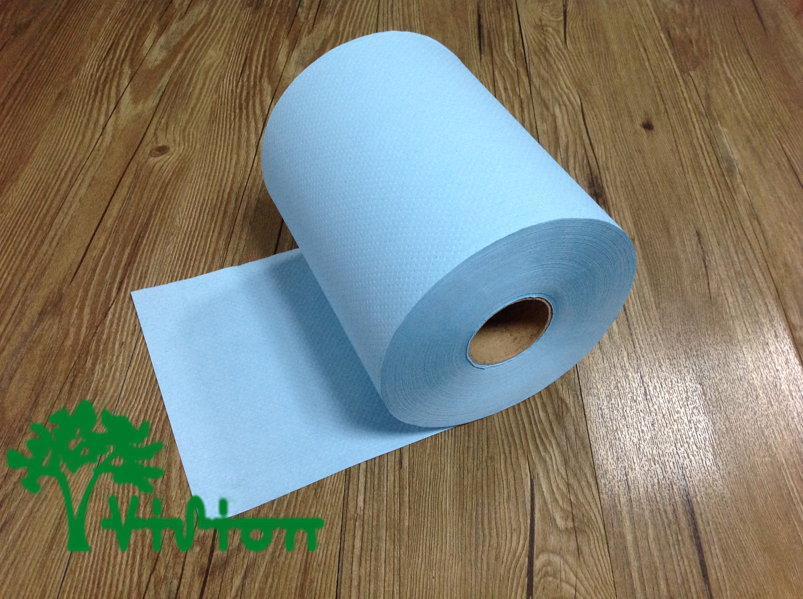 "Paper towel roll,  recycled blue,38gsm,  1Ply,7.76""×656'"